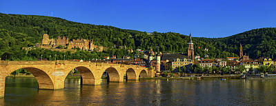 Photograph - Karl Theodor Or Old Bridge And Castle, Heidelberg, Germany by Elenarts - Elena Duvernay photo