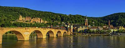 Photograph - Karl Theodor Or Old Bridge And Castle, Heidelberg, Germany by Elenarts - Elena Duvernay photo