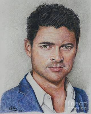 Drawing - Karl Urban by Christine Jepsen