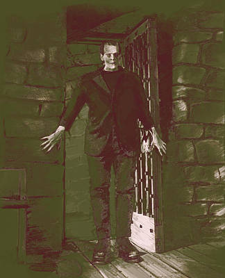 Digital Art - Karloff Enters by Kurt Ramschissel
