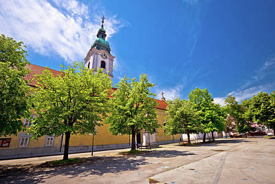 Photograph - Karlovac Central Square Church And Park by Brch Photography