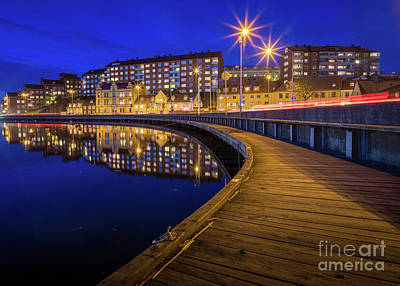 Karlskrona By Night Art Print by Inge Johnsson