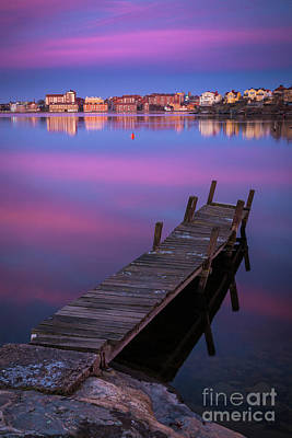 Reflective Photograph - Karlskrona Dock by Inge Johnsson