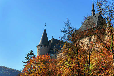 Photograph - Karlstein Castle In Autumn Time by Jenny Rainbow