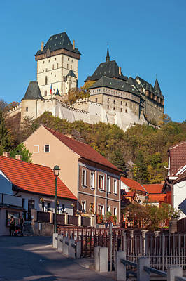 Photograph - Karlstein Castle In Village Karlstein by Jenny Rainbow