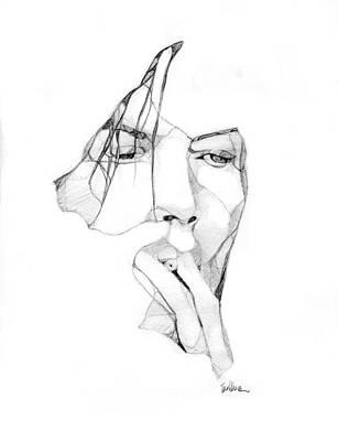 David Bowie Drawing - Karma Man by Karen Clark