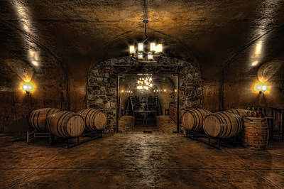 Granger Photograph - Karma Winery Cave by Brad Granger