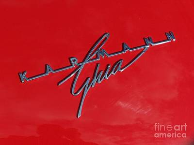 Photograph - Karmann Ghia - Red by Tony Baca