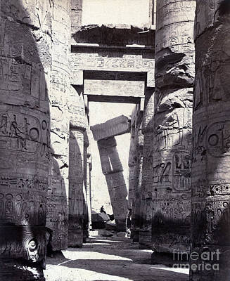 Karnak, Great Hypostyle Hall, 19th Art Print by Science Source