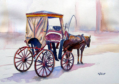 Carriage Painting - Karozzin by Marsha Elliott