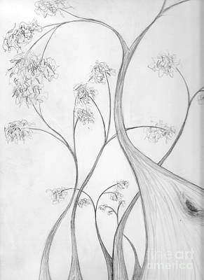 Drawing - Karri Forest by Leonie Higgins Noone