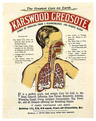 Mixed Media - Karswood Creosote - Medical Product - Vintage Advertising Poster by Studio Grafiikka