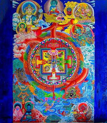 Himalaya Painting - Karuna Mandala by Padmananda