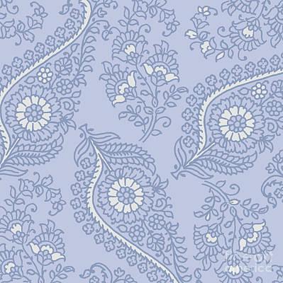 Kasbah Blue Paisley II Art Print by Mindy Sommers