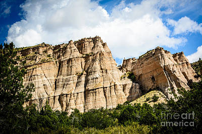 Photograph - Kasha-katuwe Tent Rocks National Monument by Bob and Nancy Kendrick