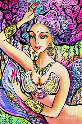 Painting - Mermaid Mudra by Eva Campbell