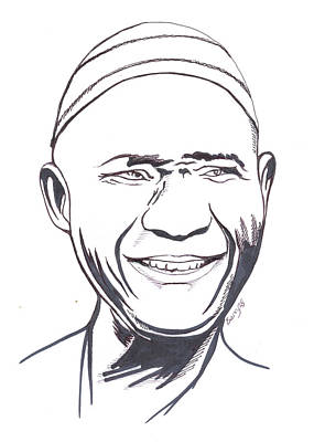 Painting - Kasse Mady Diabate by Emmanuel Baliyanga