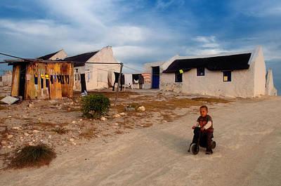 Arniston Photograph - Kassiesbaai Fishermens Cottages by Vanessa Kauffmann