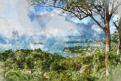 Photograph - Kata, Karon, Patong View Point, Phuket , South Of Thailand by Brandon Bourdages