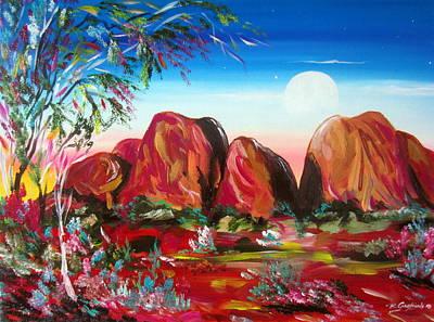 Painting - Kata Tjuta Olgas by Roberto Gagliardi