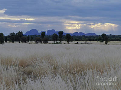 Photograph - Kata Tjuta - Rain Clouds by Phil Banks