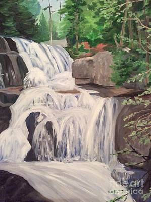 Painting - Katahdin Falls by Stella Sherman
