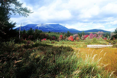 Katahdin From Abol Art Print by Tim  Canwell