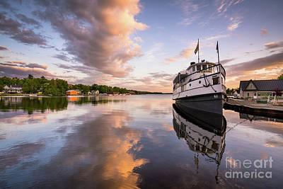 Steamboat Photograph - Katahdin On Moosehead Lake by Benjamin Williamson