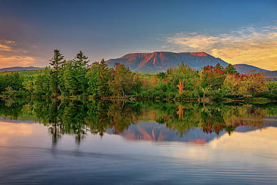 Photograph - Katahdin Reflections by Rick Berk