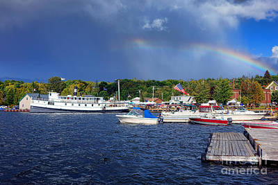 Photograph - Katahdin Steamboat In Greenville Harbor by Olivier Le Queinec
