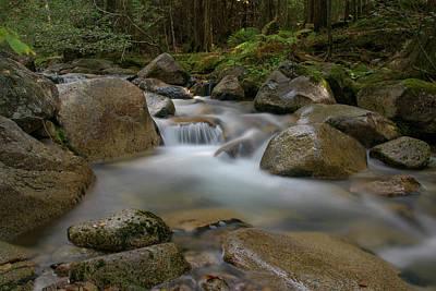 Katahdin Stream Cascades Art Print