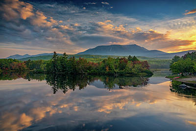 Photograph - Katahdin Sunrise by Rick Berk
