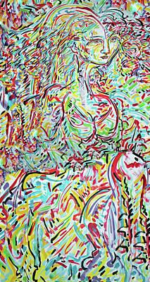 Mexicano Digital Art - Katarina Vi by Jimmy Longoria