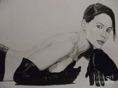 Kate Beckinsale Art Print by John Prestipino