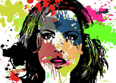 Digital Art - Kate Beckinsale Pop Art by Ricky Barnard