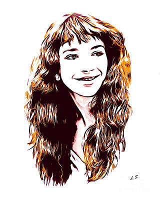 Drawing - Kate Bush Collection - 1 by Sergey Lukashin