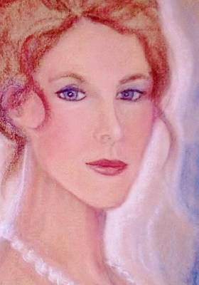 Art Print featuring the drawing Kate by Denise Fulmer