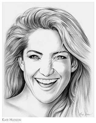 Celebrities Drawings - Kate Hudson by Greg Joens