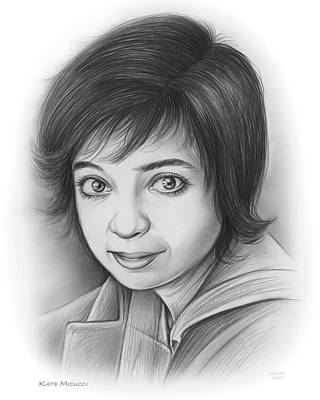 Drawings Royalty Free Images - Kate Micucci Royalty-Free Image by Greg Joens