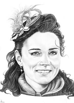 Kate Middleton Drawing - Kate Middleton by Murphy Elliott