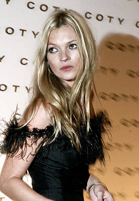 Kate Moss  At The Coty 100th Art Print