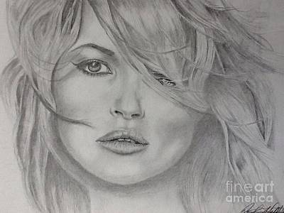Kate Moss Fashion Model Art Print