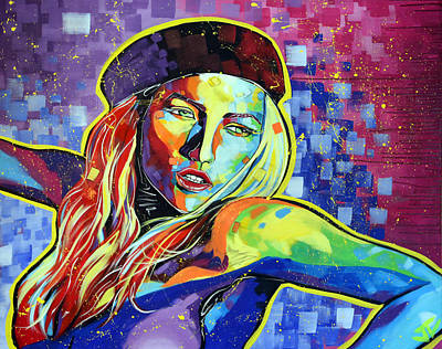 Painting - Kate Moss by Jay V Art