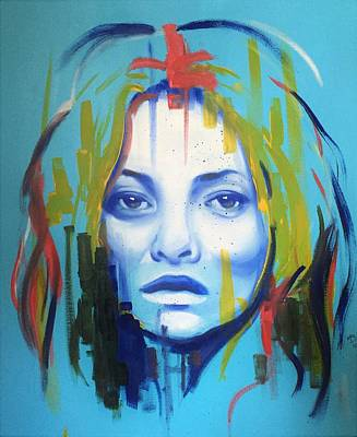Painting - Kate Moss by Matt Burke