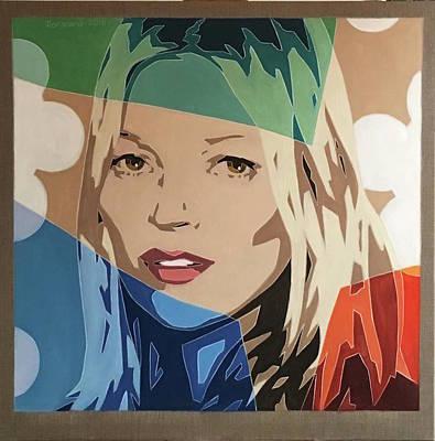 Painting - Kate Moss by Varvara Stylidou
