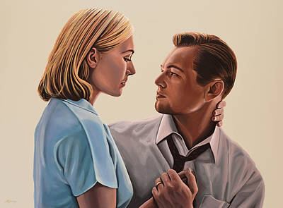 Aviator Painting - Kate Winslet And Leonardo Dicaprio by Paul Meijering