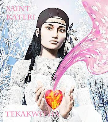 Kateri Tekakwitha Valentine Image Art Print