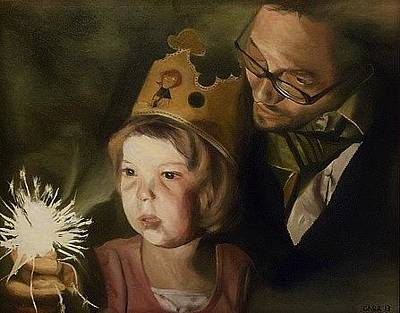 Painting - Kate's Sparkler by Cherise Foster