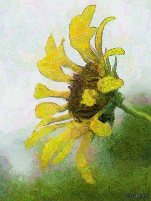 Sunflowers Painting - Kate's Sunflower by Jeffrey Kolker
