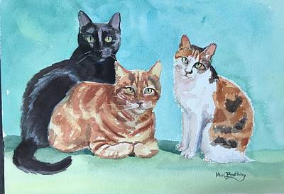 Painting - Kates's Cats by Mimi Boothby